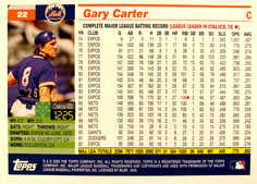 2005 Topps Retired Signature Black #22 Gary Carter/54