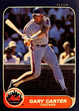 1986 Fleer #76 Gary Carter