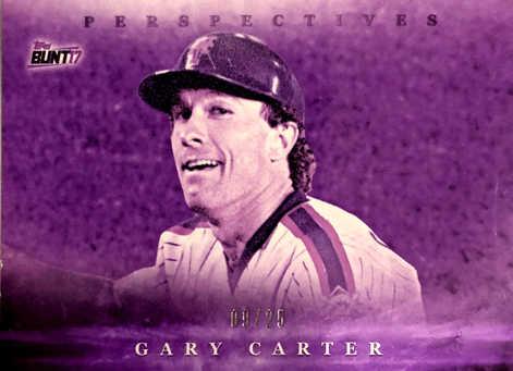 2017 Topps Bunt Perspectives Purple #PGG Gary Carter/25