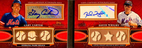 2010 Topps Sterling Pairs Relic Autographs #PAR18 Gary Carter/David Wright/10