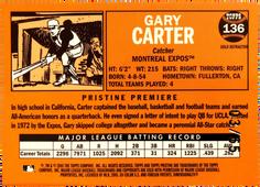 2005 Topps Pristine Legends Gold Die Cut Refractors #136 Gary Carter/65