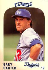 1991 Dodgers Police #12 Gary Carter