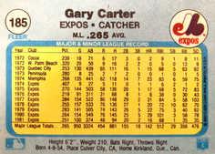 1982 Fleer #185 Gary Carter