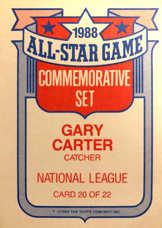 1989 Topps Glossy All-Stars #20 Gary Carter