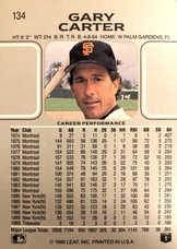 1990 Leaf #134 Gary Carter
