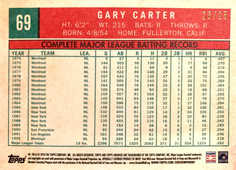 2018 Topps Archives Blue #69 Gary Carter/25