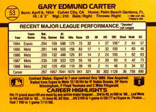 1989 Donruss #53 Gary Carter