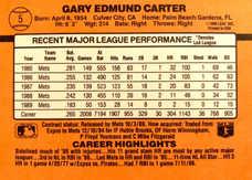 1990 Donruss Learning Series #5 Gary Carter