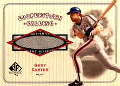 2001 SP Authentic Cooperstown Calling Game Jersey #CCGC Gary Carter