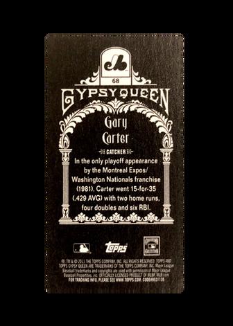 2011 Topps Gypsy Queen Mini Black #68 Gary Carter