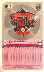1989 Topps Baseball Talk/LJN Large #76 Gary Carter