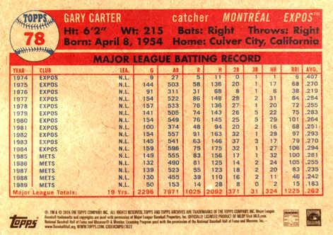 2015 Topps Archives #78 Gary Carter