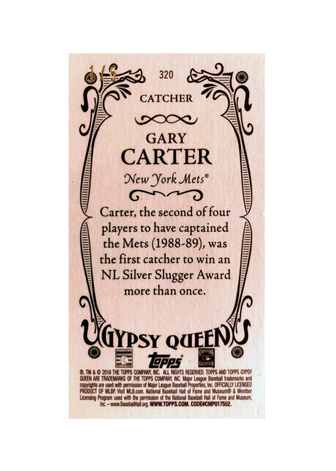 2016 Topps Gypsy Queen Mini Red #320 Gary Carter/5