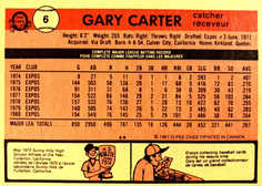 1981 O-Pee-Chee #6 Gary Carter