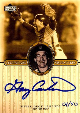 2000 Upper Deck Legends Legendary Signatures Gold #SGC Gary Carter/50