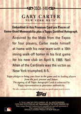 2009 Topps Sterling Career Chronicles Relic Triple Autographs #148 Gary Carter/10