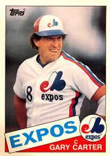 1985 Topps Super #13 Gary Carter (5X7)