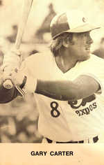 1976 Expos Postcards #4 Gary Carter (Batting Stance)