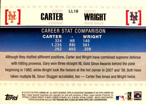 2010 Topps Legendary Lineage #LL18 Gary Carter/David Wright