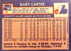 1984 Drake's #6 Gary Carter