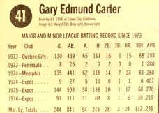1977 Hostess #41 Gary Carter
