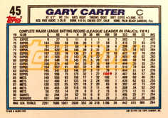 1992 Topps Gold #45 Gary Carter