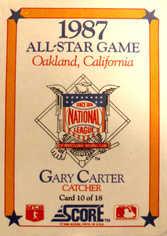 1988 Score Box Cards #10 Gary Carter