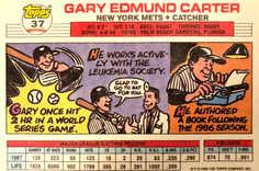 1988 Topps Big #37 Gary Carter