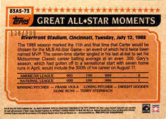 2018 Topps S2 1983 Topps Baseball All Stars Black #83AS73 Gary Carter #/299