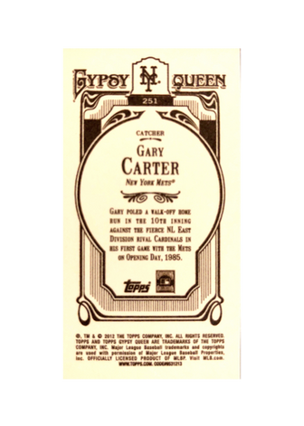 2012 Topps Gypsy Queen Mini #251 Gary Carter