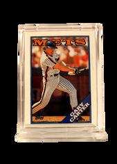 1988 Topps Doubleheaders Mets/Yankees Test #1 Gary Carter