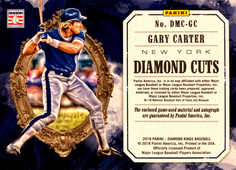 2018 Diamond Kings Diamond Material Cuts Signatures #3 Gary Carter/49
