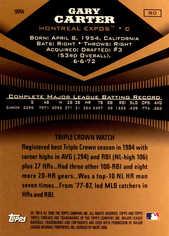 2006 Topps Triple Threads Sepia #80 Gary Carter HOF/150