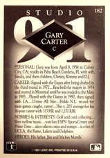 1991 Studio #182 Gary Carter