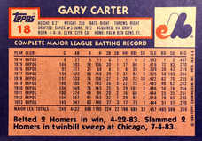 1984 Topps Super #18 Gary Carter (5X7)