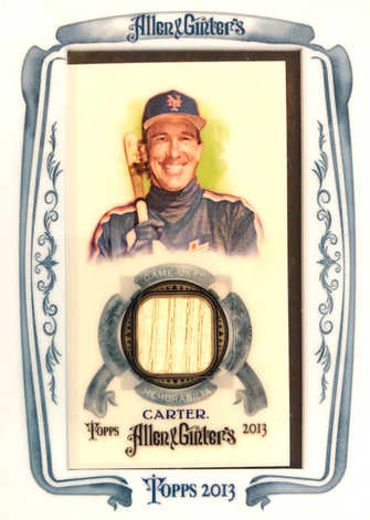 2013 Topps Allen and Ginter Framed Mini Relics #GC Gary Carter