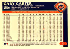 2003 Topps Retired Signature #73 Gary Carter