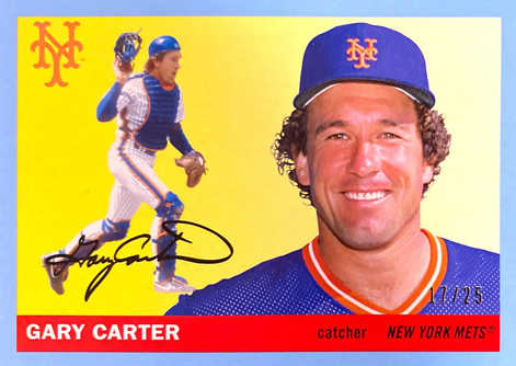 2020 Topps Archives Blue #46 Gary Carter/25