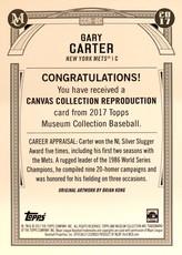 2017 Topps Museum Collection 5x7 Canvas Collection #CCRGC Gary Carter/49