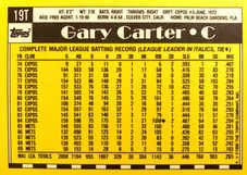 1990 Topps Traded Tiffany #19T Gary Carter