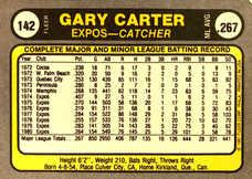 1981 Fleer #142 Gary Carter