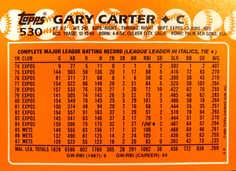 1988 Topps Tiffany #530 Gary Carter