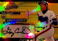 2002 Absolute Memorabilia Absolutely Ink Gold #AI18 Gary Carter/25