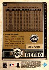 1999 Upper Deck Retro Gold #105 Gary Carter/250