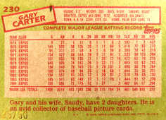 2005 Topps All-Time Fan Favorites Originals Relics #GC Gary Carter Bat 85/50