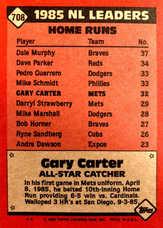 1986 Topps #708 Gary Carter AS