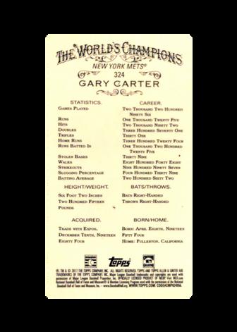 2017 Topps Allen and Ginter Mini Gold Border #324 Gary Carter