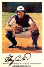1979 Adams Brands Montreal Expos 5X7 Gary Carter