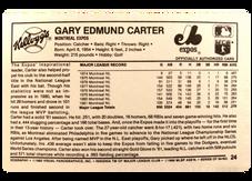 1982 Kellogg's #24 Gary Carter