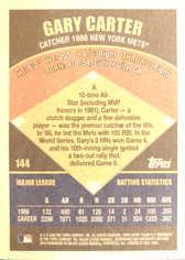 2002 Topps Super Teams #144 Gary Carter